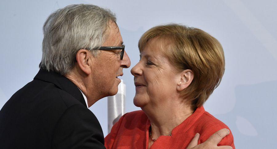 Как Юнкер оконфузился сМеркель